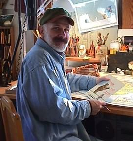 Olivier in his Studio